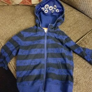 Adorable boys zip up hoodie